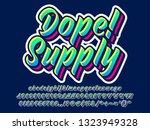 custom dope lettering font ... | Shutterstock .eps vector #1323949328