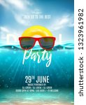 summer pool party poster... | Shutterstock .eps vector #1323961982