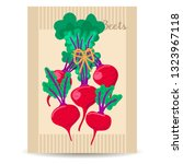 red beetroot. vegetables in a... | Shutterstock .eps vector #1323967118