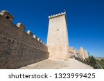turret and rampart in castle of ... | Shutterstock . vector #1323999425