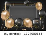 black and gold air balloon on... | Shutterstock .eps vector #1324000865