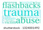 trauma word cloud on a white... | Shutterstock .eps vector #1324001492