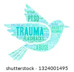 trauma word cloud on a white... | Shutterstock .eps vector #1324001495