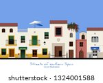 typical street in southern...   Shutterstock .eps vector #1324001588