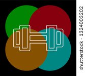 muscle lifting icon  fitness... | Shutterstock .eps vector #1324003202