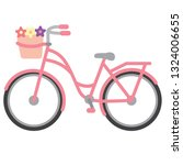 Vector Pink Bicycle. Bike With...