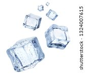 falling ice cubes  isolated on... | Shutterstock . vector #1324007615