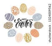 vector greeting card   easter... | Shutterstock .eps vector #1324009562