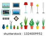 a set of furniture for the...   Shutterstock .eps vector #1324009952