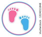 Baby Footprint Pink And Blue In ...