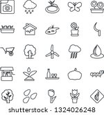 thin line icon set   storm... | Shutterstock .eps vector #1324026248