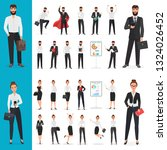 business man and business... | Shutterstock . vector #1324026452