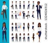 black african american... | Shutterstock . vector #1324026512