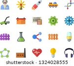 color flat icon set energy... | Shutterstock .eps vector #1324028555