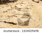 ruins of gabion   mattress... | Shutterstock . vector #1324029698