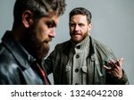 conflict and confrontation. man ... | Shutterstock . vector #1324042208