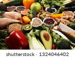 healthy food clean eating... | Shutterstock . vector #1324046402