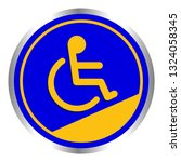 disabled signs circle frame... | Shutterstock .eps vector #1324058345