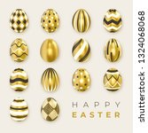 set of ornate golden realistic... | Shutterstock .eps vector #1324068068