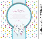 invitation and greeting card ... | Shutterstock .eps vector #132407678