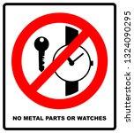 no metallic articles or watches ... | Shutterstock . vector #1324090295