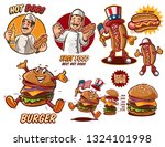 fast food graphic set | Shutterstock .eps vector #1324101998