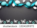 easter eggs decoration on... | Shutterstock . vector #1324109372