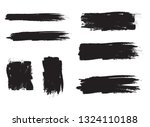 brush stroke set isolated on... | Shutterstock .eps vector #1324110188