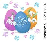 easter background. spring... | Shutterstock .eps vector #1324112318