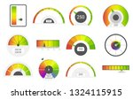 speedometer icons. credit score ... | Shutterstock .eps vector #1324115915