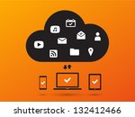clouds for social networks on... | Shutterstock .eps vector #132412466