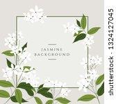 vector jasmine flower banners....   Shutterstock .eps vector #1324127045