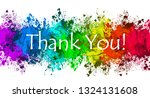 paint splatter   thank you | Shutterstock . vector #1324131608