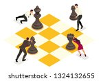 isometric concept strategic... | Shutterstock .eps vector #1324132655