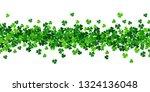 vector paper green shamrocks on ... | Shutterstock .eps vector #1324136048