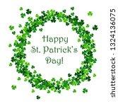 saint patrick's day vector... | Shutterstock .eps vector #1324136075