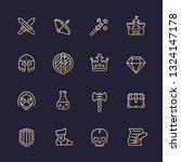 game line icons set  rpg ui ...