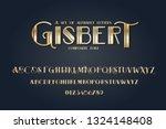 vector composite font. art deco ... | Shutterstock .eps vector #1324148408