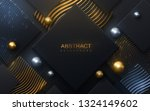 black paper cut background... | Shutterstock .eps vector #1324149602