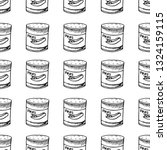 canned peas seamless pattern... | Shutterstock .eps vector #1324159115