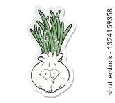 distressed sticker of a cartoon ... | Shutterstock .eps vector #1324159358