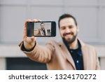 close up portrait of attractive ... | Shutterstock . vector #1324170272