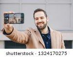 close up portrait of attractive ... | Shutterstock . vector #1324170275