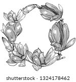 card with magnolia. graphics....   Shutterstock .eps vector #1324178462