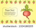 card for kitchen notes. blank... | Shutterstock .eps vector #1324180205