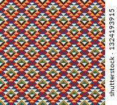 aztec like style pattern... | Shutterstock .eps vector #1324193915