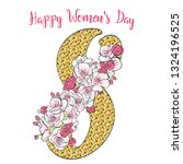 happy women's day greeting card ... | Shutterstock .eps vector #1324196525