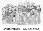 layers of tectonic plates...   Shutterstock .eps vector #1324215965