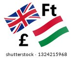 gbphuf forex currency pair... | Shutterstock .eps vector #1324215968