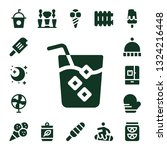 cold icon set. 17 filled cold... | Shutterstock .eps vector #1324216448